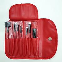 Bộ 7 cọ trang điểm cá nhân kèm bao da bảo vệ (Đỏ)