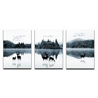 Bộ 3 Tranh Canvas Tặng Kèm Sơ Đồ Treo Tranh Và Đinh Treo Tranh Chuyên Dụng - Khung Hình Phạm Gia PGTK172