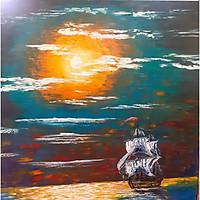 Tranh vẽ sơn dầu đẹp: Lệch