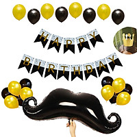 Combo trang trí sinh nhật dây treo và bong bóng