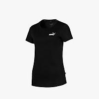 PUMA - Áo thun nữ cổ tròn Cotton Black ESS Camiseta 851786-01