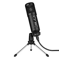 USB Computer Microphone with Mute/ Noise Reduction/ BT Connection Cardioid Condenser Mic Kit with Mini Desktop Metal