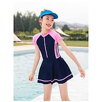 Đồ bơi bé gái liền thân chân váy size lớn từ 22kg đến 50kg