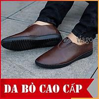Giày lười nam da bò-bao bền - bao êm chống nước tuyệt đốt 2021 [ xem hàng đi thử mấy thanh toán]