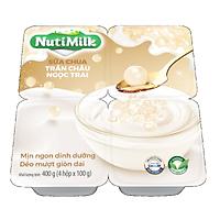 NutiMilk Lốc 4 Hộp Sữa chua Trân Châu Ngọc Trai L4.SCTNTI Nutifood