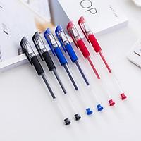 combo 5 cây bút bi dạng nước viết cực trơn nhanh khô mực