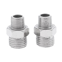 2pcs Professional Airbrush Adaptor Adapter Kit Fitting Connector Set For Compressor & Airbrush Hose