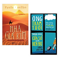Combo 2 Cuốn Sách Văn Học Hay Nhất: Ông Trăm Tuổi Trèo Qua Cửa Sổ Và Biến Mất (Tái Bản) + Nhà Giả Kim / Tặng Kèm Bookmark Happy Life