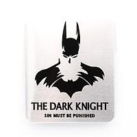 Batman The Dark Knight hình vuông - Sticker hình dán metal kim loại