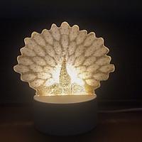 Đèn ngủ, đèn trang trí 3D, quà tặng độc đáo cho bạn bè và người thân - Hình con công