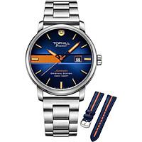 Đồng hồ nam lặn biển dây da và dây thép TOPHILL TD002G.S1358