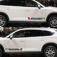 Bộ 2 tem dán cửa xe ô tô Mazdaspeed 01