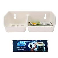 Giá để giẻ rửa bát 2 ngăn dày dặn nội địa Nhật Bản + Tặng Trà sữa / Cafe Macca
