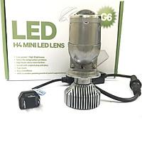 Đèn Pha Led Bi Cầu Mini G6 Chân H4 Siêu Sáng