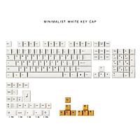 136 Keys White Orange Keycap Set OEM Profile PBT Keycaps for 64 68/84/96/87/104 Keys Mechanical Keyboards