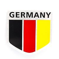 Sticker hình dán metal cờ Đức - miếng lẻ - Hình khiên 5x5cm