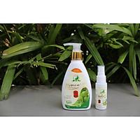 Combo 2 chai dung dịch vệ sinh nam, nữ Bảo Mỹ Xuân chiết xuất từ các thảo dược thiên nhiên 150ml và chai xịt Nano thảo dược 30ml
