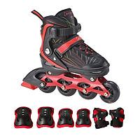 Combo Giày trượt patin K500 Đỏ+ bộ bảo hộ tay chân