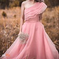 Đầm maxi lệch vai dự tiệc mặc cưới TRIPBLE T DRESS -size M/L (kèm ảnh/video thật) MS31Y