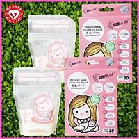 Combo 60 túi trữ sữa mẹ Sunmum mini hồng 100ml (2 hộp) tặng 2 zipper bảo quản