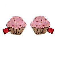 Kẹp Tóc Cupcake Cho Bé Latin Handmade LT376H