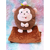 Gấu mền 3 trong 1 hình khỉ nâu