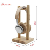 Giá treo tai nghe chụp tai, headphone chất liệu gỗ thông tự nhiên cao cấp hàng chính hãng Anzzar TN-02