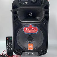 Loa kéo karaoke di động Bluetooth thùng gỗ FH-B08 tặng kèm 1 Micro không dây