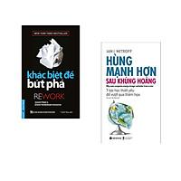 Combo 2 cuốn sách: Khác Biệt Để Bứt Phá + Hùng mạnh hơn sau khủng hoảng