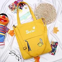 Túi Tote Vải Bố - Túi Đeo Chéo Nữ Hình Smile (Nhiều màu)