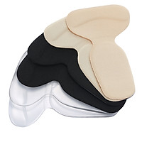 3pairs T-Heel Cushion Inserts Heel Grips Silicone Shoe Pads for Women Loose Shoes and High Heels Shoe Too Big Anti-Slip