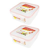 Combo 02 hộp thực phẩm vuông  inomata 700ml hàng nội địa Nhật Bản