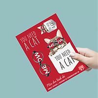 Mèo Đeo Kính Đỏ - Single Sticker hình dán lẻ