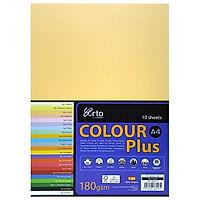 Tập Giấy Màu CAMPAP CR36553 - Tập 10 Tờ - Khổ A4 - Màu Vàng