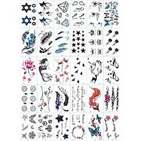 30 Tờ Hình Xăm Dán Tattoo Xăm Nước Tha Thu
