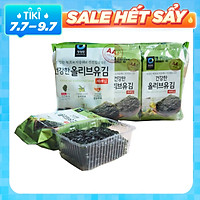Bịch 9 Gói Lá Kim Ăn Liền Vị Dầu Oliu Truyền Thống Hàn Quốc Daesang 5 Gram x 9