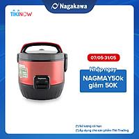 Nồi Cơm Điện Nắp Gài 3D Nagakawa NAG0119 (1.8 Lít) - Đỏ - Hàng Chính Hãng