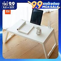 Bàn Xếp Xiaomi Youpin Jiezhi Bằng PP Nhẹ Với Ngăn Để Máy Tính Bảng & Lỗ Sạc Thiết Bị