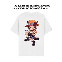 Áo thun unisex in hình chibi ACE Hỏa Quyền One Piece siêu dễ thương chất vải mềm mịn mát từ AnbinhShop