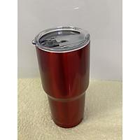 Ly giữ nhiệt Thái Lan 900ml 2 lớp inox 304 dày chắc _ tặng 2 ống hút inox + 1 túi xách + 1 cọ rửa ống hút _ đỏ sơn bóng
