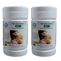 2 Hộp Thực phẩm X5PLUS bột dinh dưỡng lợi sữa dành cho mẹ