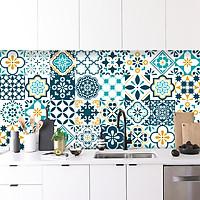 Decal gạch bông trang trí dán bếp, dán tường - mã HV122