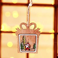 Móc Treo Trang Trí Giáng Sinh Bằng Gỗ Siêu Dễ Thương