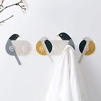 Bộ 6 móc dán tường hình chim siêu dính có độ bám cao chịu lực 5kg treo quần áo đồ dùng cá nhân