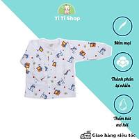 Set áo quần trẻ em sơ sinh họa  tiết cá heo - trắng - dành cho trẻ 3 - 9kg