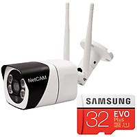 Camera IP Wi-fi Ngoài Trời NetCAM NTL 2.0 Full HD 1080P Tặng Thẻ Nhớ Samsung 32GB/95MB - Hàng Chính Hãng