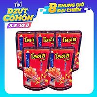 Combo 5 Gói Snack Bim Bim Bánh Que Vị Đùi Gà Cay (50gram/gói) Dorkbua Lotus Nhập Khẩu Chính Hãng Từ Thái Lan