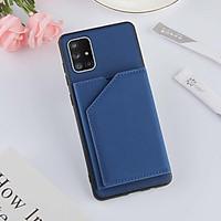 Ốp điện thoại nắp gập thiết kế để thẻ bằng da cao cấp cho Samsung Galaxy S21 Ultra S21 Plus S21+ A12 A32 A52 A72 5G