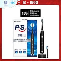 Bàn Chải Điện P/S S100 PRO - Công Nghệ Sóng Âm, Chải Sạch Mảng Bám Tới 10X - Đen Nhám