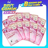 Combo 10 Gói Mặt Nạ Tái Tạo Da Từ Collagen 3w Clinic Fresh Collagen Mask Sheet 100% Cotton (23ml/Miếng)